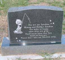infant headstones child infant grave marker and monuments