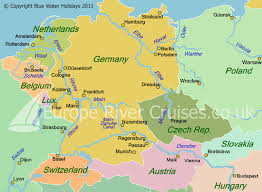 map of n europe river rhine cruises from amsterdam strasbourg or brussels with