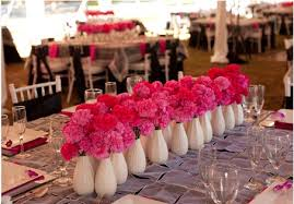 small centerpieces pink carnation centerpieces in white vases budget brides guide