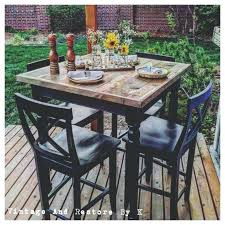 High Bistro Table Set Outdoor High Top Bistro Table And Chairs Chair Black Pub Table And 4
