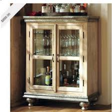 Pottery Barn Kitchen Hutch by Love The Rustic Look And Having Alcohol And Glasses Hidden For