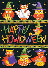 custom decor flag happy halloween owls decorative flag at garden