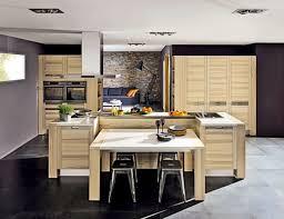 idee cuisine avec ilot table ilot central finest amazing ilot central table escamotable