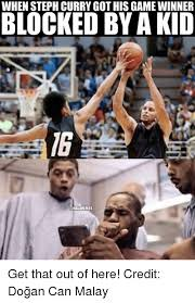 Malay Meme - when steph curry gothis game winner blocked by akid unbamemes get