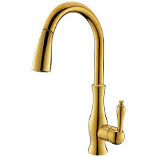 popular gold pull down kitchen faucet buy cheap gold pull down