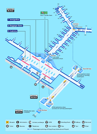 Airport Map Hong Kong Airport Map Facility Information Ana