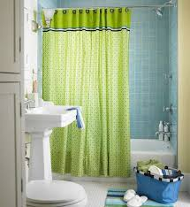 Design Ideas For Small Bathroom With Shower Cute Lime Green Accents Curtain For Small Bathroom Design Idea