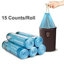 Amazoncom Topist Drawstring Trash Bag Disposable Clear Garbage - Bathroom trash bags