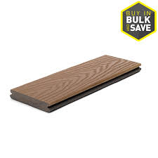 shop trex select 20 ft saddle grooved composite deck board at