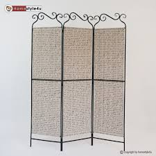 Metal Room Dividers by Part Paravent Screen Metal Room Divider 3 Panel Partition Screens
