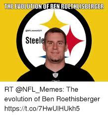 Ben Roethlisberger Meme - the evolution of ben roethlisberger steele rt the evolution of ben