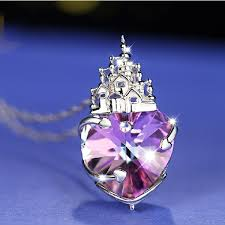 crystal shaped necklace images Lovely and gorgeous swarovski element heart shaped castle of love jpg