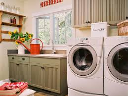 country style vintage wooden cabinets materials small laundry room