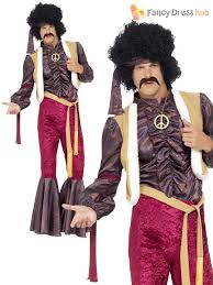 mens 70s psychedelic rocker flares costume disco fancy dress