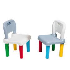 chaise plastique enfant 2 chaises plastiques multicolore imagibul création oxybul pour