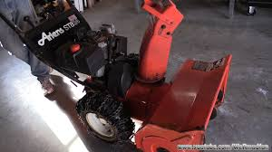 ariens snowblower bearing replacement youtube