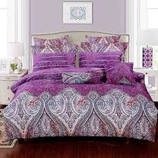 Duvet Cover Oversized King Swanson Beddings Royal Paisley 5 Piece Luxury 100 Cotton Bedding