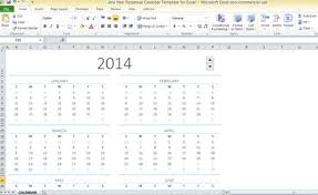 Excel Calendar Template Any Year Perpetual Calendar Template For Excel