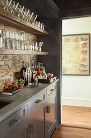 Wet Bar Countertop Ideas Stunning Butler U0027s Pantry Wet Bar With Rustic Floating Shelves Over