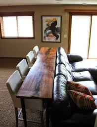 Sofa Table With Stools Redefining The Sofa Table Add Chairs Apartment Therapy
