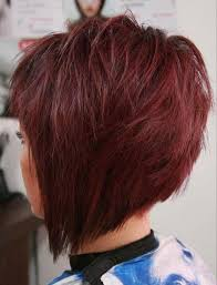 colorful short hair styles short hairstyles and cuts short bob in auburn cranberry color