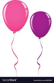 balloon ribbon pink and purple balloon ribbon royalty free vector image