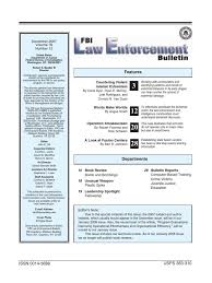 d agement bureau fbi enforcement bulletin december 2007 focus on terrorism