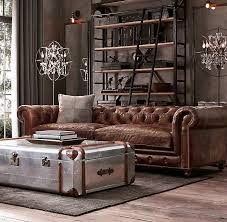 chesterfield sofa restoration hardware 76 kensington leather sofa