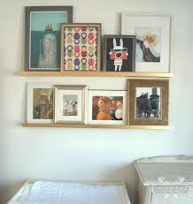 ikea ribba ledge gallery wall with ikea ribba ledges gallery wall spray painting