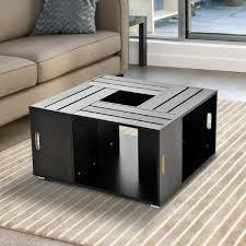 Table Basse by Homcom Table Basse De Salon Design Table D U0027appoint Avec Caiser 80