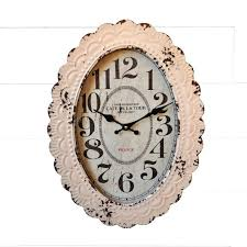 shabby chic metal clock antique farmhouse
