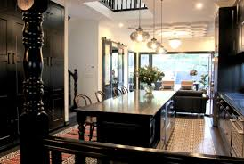 modern eclectic kitchen the black house natural modern interiors