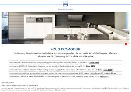 november 2105 v zug promotion purchase any 3 appliances from