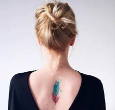 51 watercolor tattoo ideas for women colorful feathers