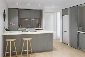 White Backsplash Kitchen Tiles Backsplash Minimalist Grey Apartment Kitchen With Wooden
