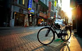 vintage bicycle on germany streets hd wallpaper