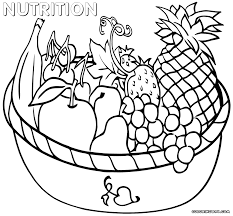 healthy habits coloring page preschool nutrition pages educations