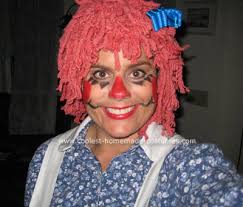 Raggedy Ann Andy Halloween Costumes Adults Raggedy Ann Makeup Kids Images