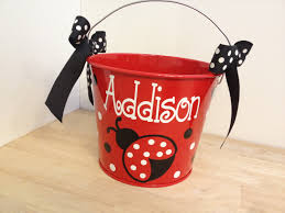 Halloween Bucket Personalized Easter Basket 5 Quart Metal Bucket Name Or