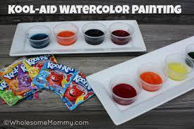 kool aid watercolor painting