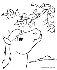 horse coloring pages sheets pictures