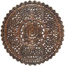 elegant wood carved wall plaque floral wood wall panels u2013 asiana