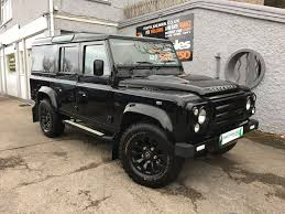 land rover defender black land rover defender 110 2 2 td xs utility wagon manual black park