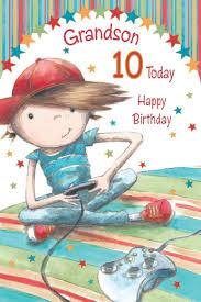 grandson happy 10th birthday card amazon co uk kitchen u0026 home