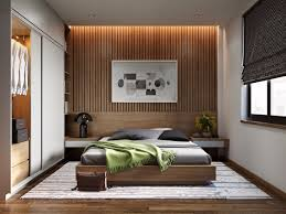 25 lovely examples of bed room accent partitions that use slats to
