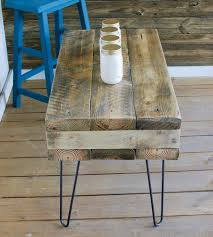 reclaimed wood rectangular coffee table with hairpin legs home