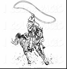 unbelievable cowboy lasso coloring page with cowboy coloring pages