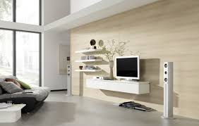 white wall mounted cabinet elegant home living room design with tv on wall and combine with