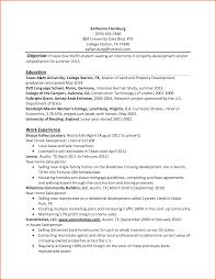 Accounting Student Resume Objective Internship Resume Example