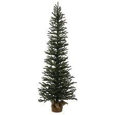 3 mini pine artificial tree in burlap base unlit